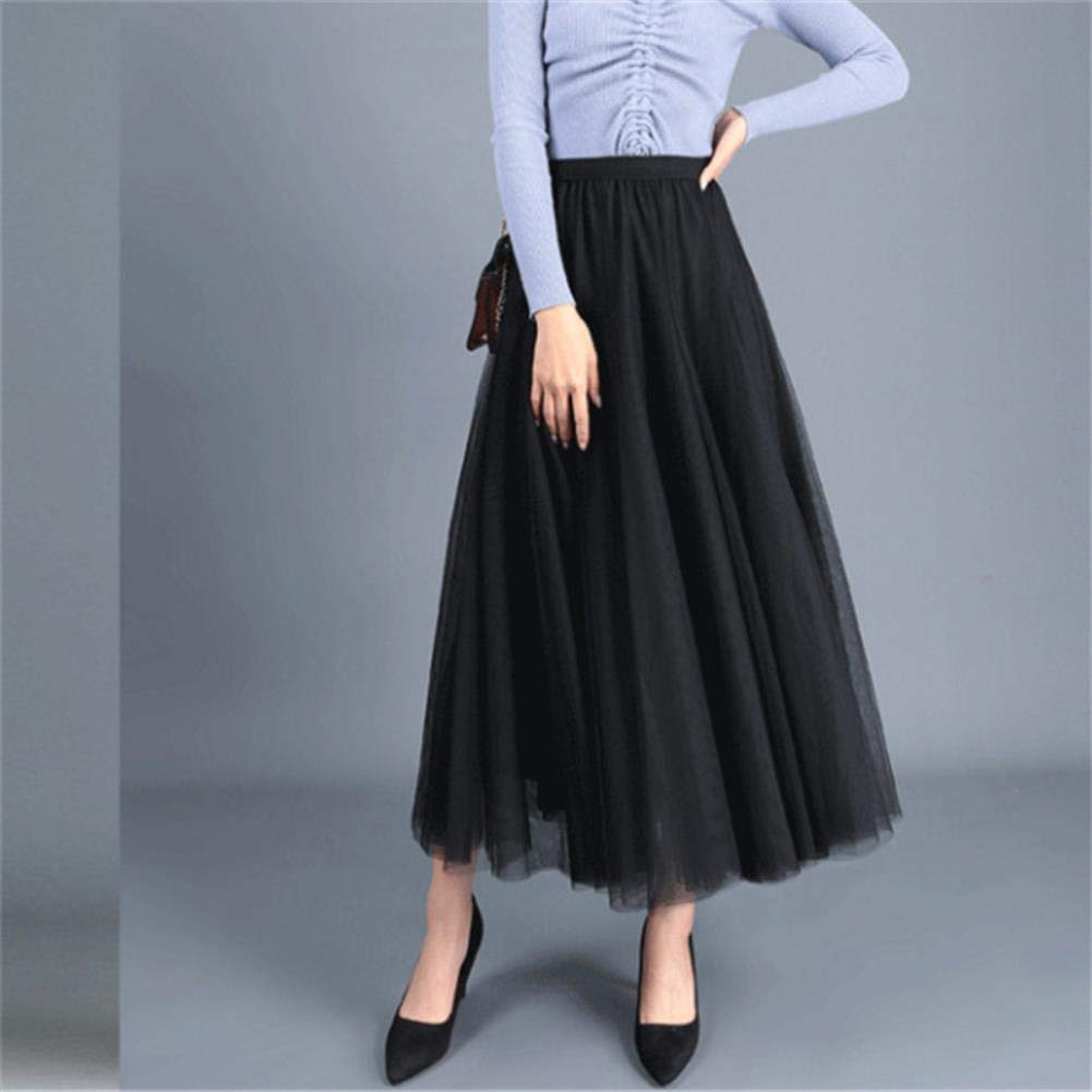 Tutu Falda de Neopreno para Mujer, Tul de 3 Capas, Color Negro y ...