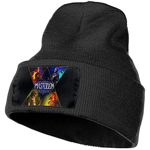 (SmallHan Mens & Womens Mastodon Live At Brixton Skull Beanie Hats Winter Knitted Caps Soft Warm Ski Hat Black)