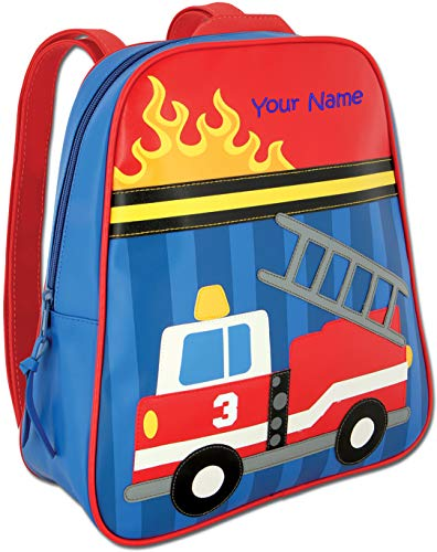 Personalized Stephen Joseph Firetruck Go Go Backpack with Embroidered ()