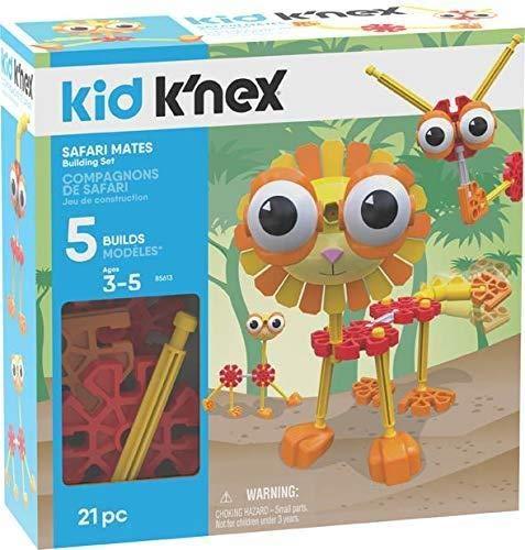 K'NEX Kid Safari Mates Building Set - 21 Pieces - Ages 3+ - Preschool Educational Toy