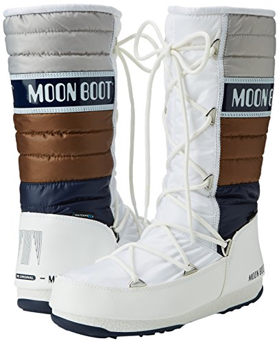 Moon Stivali b navy bronzo Boot Quilted Adulto W Unisex e Bianco qOfqP