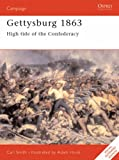 Front cover for the book Gettysburg 1863: High tide of the Confederacy by Carl Smith