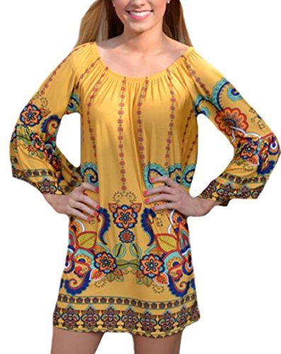Jaycargogo D'été Hors Impression Épaule Femmes Changement Mini Robe De Plage 10