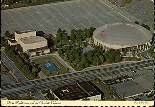 Ovens Auditorium and the Charlotte Coliseum Charlotte, North Carolina Original Vintage Postcard