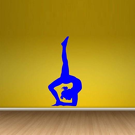 zqyjhkou Hermoso Yoga Zen Gym Girl Wallpaper Pegatinas de ...