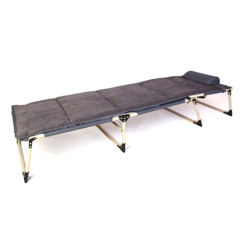 Caishuirong Klappbett Klappbare Einzelbetten for Gäste Matratzen Klappbarer Loungesessel Verstellbares Rückenkissen Tragbares Mehrzweckklappbett Geeignet für Erwachsene, die viel Platz mögen.