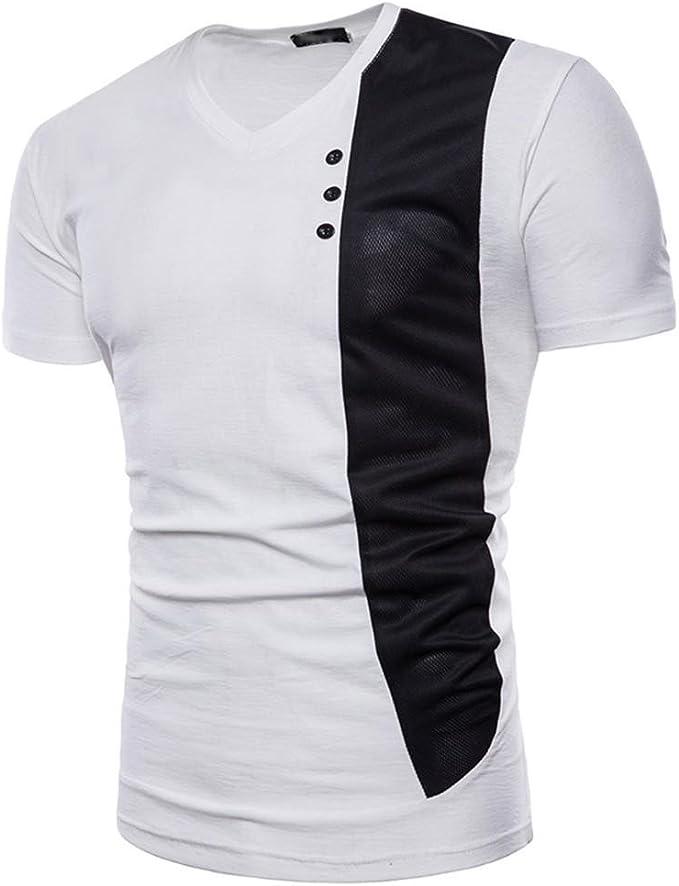 Venmo Slim fit Camiseta Hombre Casual Camisa Manga Corta Camisetas ...