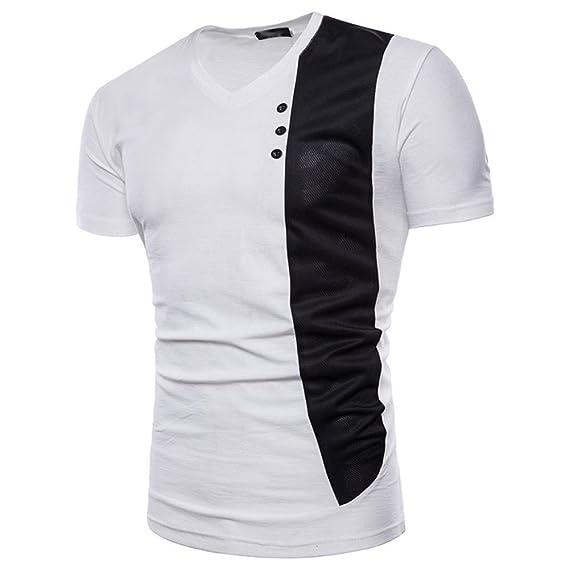 ❤Venmo Slim fit Camiseta Hombre Casual Camisa Manga Corta Camisetas Deportivas Hombres Blusa Tops de Viaje: Amazon.es: Ropa y accesorios