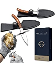 Set of 2 Oyster Shucking Knives with Level 5 Protection - Includes Oyster Shucking Gloves and Carrying Case - High Quality Oyster Shucker Kit - Thoughtful Gift for Seafood Lovers