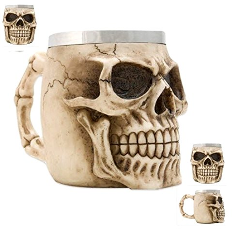 Human Skeleton Skull Halloween Kitchen Mug Cup from Not Just an Empty Box