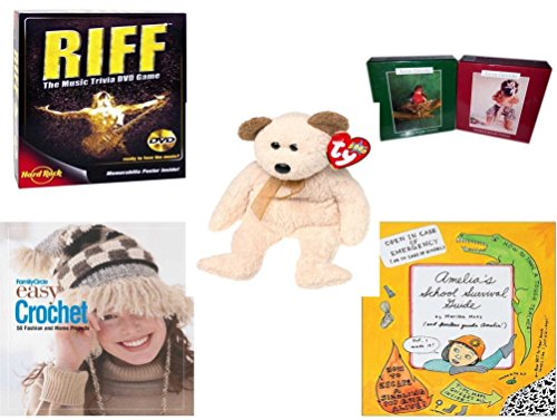 Girl's Gift Bundle - Ages 6-12 [5 Piece] - Riff DVD Game - Set of 2 Anne Geddes 100 Pieces Puzzle No. 1510-4, 1510-9 - Ty Beanie Babies Huggy The Bear - Family Circle Easy Crochet: 50 Fashion and Ho