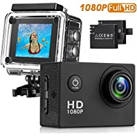 Action Camera , 30M Waterproof Sport Camera Full HD 1080P 2.0 Inch LCD Display 140 Degree Wide Angle Lens Sport Recorder Car Camera