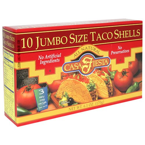 UPC 017600081049, Casa Fiesta Large Taco Shells, 6.1-Ounce Boxes (Pack of 12)