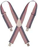 CLC Custom Leathercraft 110USA Heavy Duty Elastic Work Suspenders, USA Flag Print