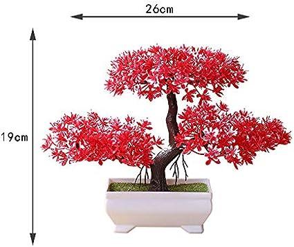 26 19cm Red MSYOU Mini Plante de Simulation en Plastique Style Yunsong pour int/érieur et ext/érieur D/écoration de Bureau f/ête de Mariage