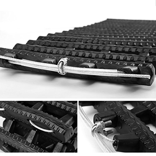 Mr.Go Auto Emergency Traction Aid, Portable Car Vehicle Tyre Grip Recovery Tracks Traction Mat Pad Sand Ladder -Free From Off-road Mud, Snow, Ice, and Sand - 2 Pack - Black by Mr.Go Outdoors & Sports (Image #4)