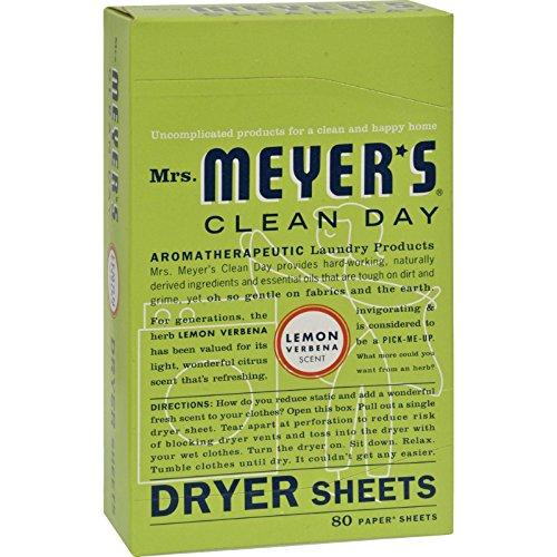 Meyers Dryer Sheets (Mrs. Meyers Dryer Sheets Lemon Vrbna 80 Sheets, 2 pack)