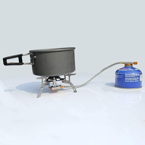 BESPORTBLE Estufa de Gas para Camping Estufa de Gas Plegable Estufa de Picnic Cocina de Acero Inoxidable Ultraligera Estufas de Gas Port/átiles Al Aire Libre para Senderismo BBQ de Viaje