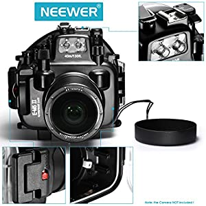 Neewer® 40M/130ft Waterproof Underwater Camera Housing Diving Case for Olympus E-M5 II, Compatible with 12-50mm lens