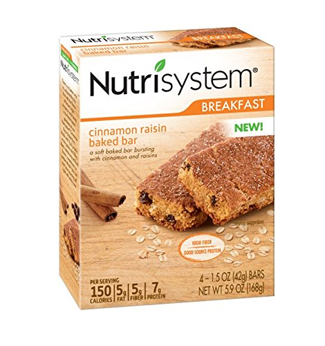 Raisin Cinnamon Roll - Nutrisystem Morning Mindset Cinnamon Raisin Baked Bars, 24 ct