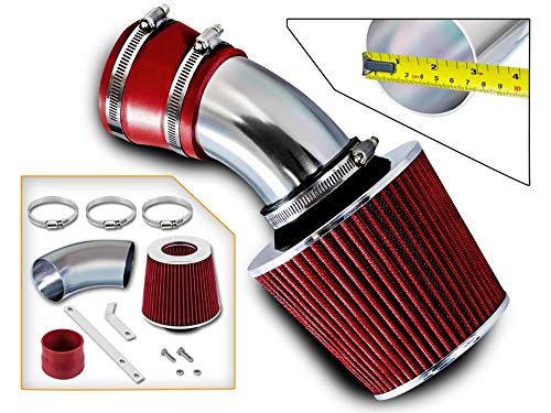 (Rtunes Racing Short Ram Air Intake Kit + Filter Combo RED For 98-05 BMW E46)
