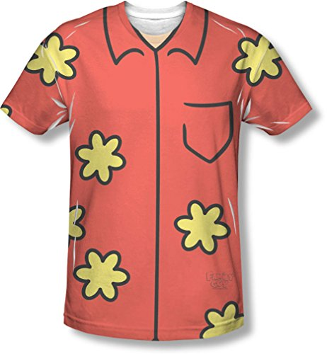 Family Guy Quagmire Costumes Tshirt (Family Guy - Mens Quagmire Costume T-Shirt, Size: X-Large, Color: White)