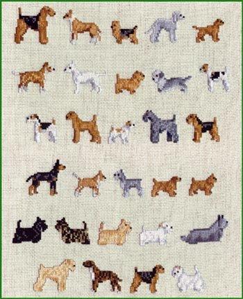 Pegasus Originals Terrier Minis Counted Cross Stitch Chartpack ()
