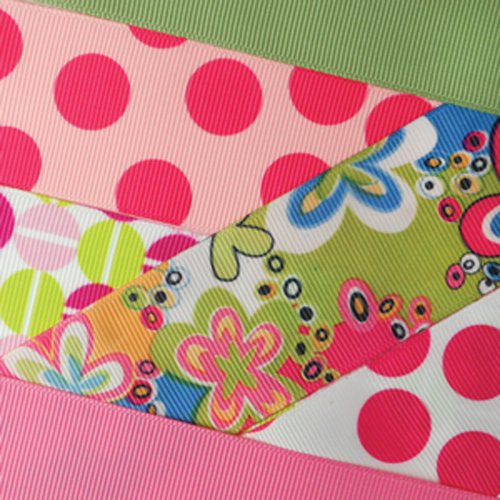 Venus Ribbon 7/8-Inch Cutesy Ribbon and Trim Assortment, 24 Yards (Patent Ribbon)