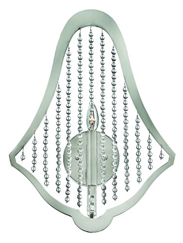 Fredrick Ramond Crystal Sconce (Fredrick Ramond FR43530PNI One Light Polished Nickel Crystal Strands Glass Wall)