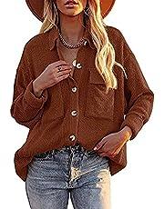 Achinel Vrouwen Corduroy Shirts lange mouw Top Button Down Vest Casual Losse Blouse