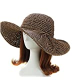 New Fashion Style Lady Woman Bohemia Summer Straw Sun Visor Wide Large Brim Floppy Fold Summer Swimming Beach Hats Straw Cap for Holiday Traveling