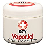Keys VaporJel Chemical-Free, Gluten Free, Vegan Alternative Naturals – Vapor Rub-On for Colds and Congestion, Soothes Muscle and Joint Aches with Pure Organic Jellied Avocado Oil, 2 ounces