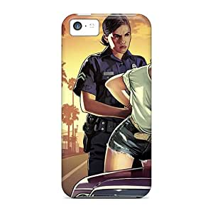 Top Quality Case Cover For Iphone 5c Case With Nice 2013 Grand Theft Auto Gta V Appearance