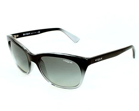 a5243faf6b38 Vogue Sunglasses VO 2743 S 1717 11 Acetate plastic Black - Transparent Gradient  Grey  Amazon.co.uk  Clothing