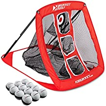 Rukket Skee Pop Up Golf Chipping Net | Outdoor/Indoor Golfing Target Accessories and Backyard Practice Swing Game
