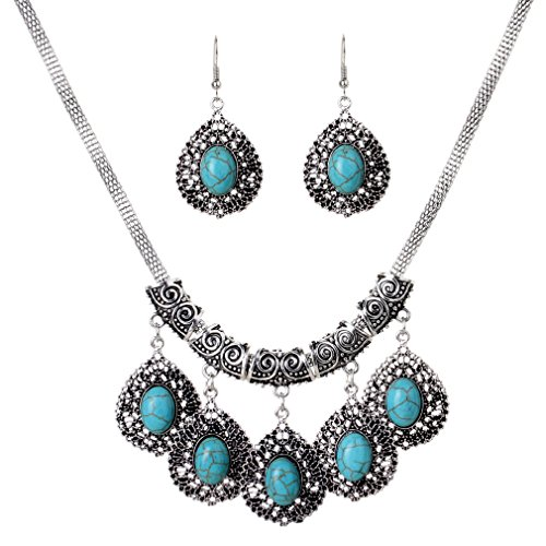 YAZILIND Waterdrop Earrings Sweater Necklace product image