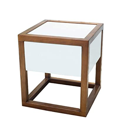 Amazon.com: Bedside table Dressing Table Solid Wood Living Room Sofa ...