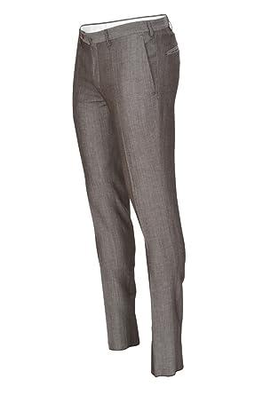 Pantalon Incotex Laine Slim Blanc 44 Marron Fit Cut Homme 6gyvf7Yb