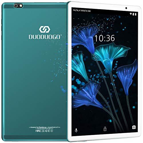 Tablet 10.1 Pulgadas Android 10 Quad Core, Certificación Google GMS 4 GB RAM 64GB/128GB ROM 8000mAh Tablet Dual SIM Tablet 10 Pulgadas Baratas y Buenas,IPS, 5+8 MP, Disney +, Netfilix a buen precio
