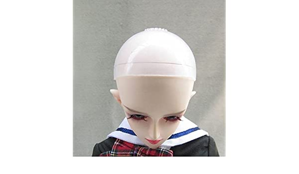 "5 pcs 5-6/"" Silicon Wig Cap for MSD 1//8 Bjd  Doll Head Protection Cover"