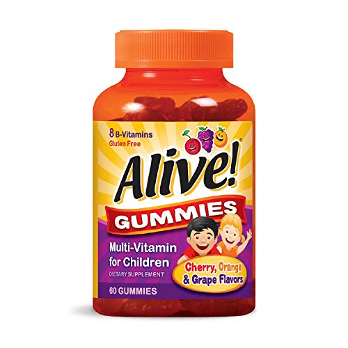 Nature's Way  Alive!® Children's Gummy Multivitamin, Fruit and Veggie Blend (100mg per serving), Gluten Free, made with Pectin, 60 Gummies
