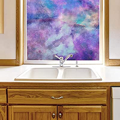 Made With Top Quality, Charming Picture, Window Film for Privacy Galaxy Large Decorative Glass Sticker for Office Home Meeting Room Bathroom Self Adhesive Anti UV Removable Flims