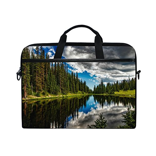 15-Inch Laptop Bag Lake Irene Colorado Sky Canvas Shoulder Messenger Sleeve Case Tablet Briefcase ()