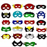 Superhero felt party masks 22 pieces party cosplay masks for boys and girls