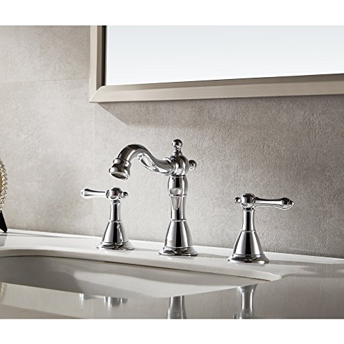 Enzo Rodi ERF2311344CP-10 8 inch Two-Handle Low-Arc Widespread Bathroom Faucet,Polished Chrome