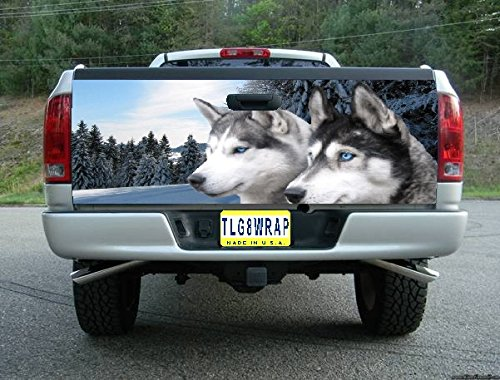 (Avery T157 WOLF TAILGATE WRAP Vinyl Graphic Decal Sticker F150 F250 F350 Ram Silverado Sierra Tundra Ranger Frontier Titan Tacoma 1500 2500 3500 Bed Cover tint image)