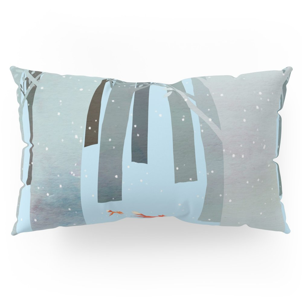 Society6 Two Foxes Running In The Woods Pillow Sham King (20'' x 36'') Set of 2