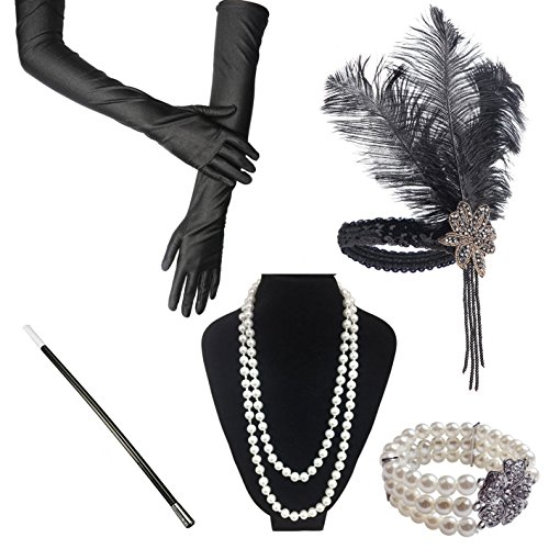 iLoveCos Womens 1920s Fashion Great Gatsby Flapper Costume Accessories (H)