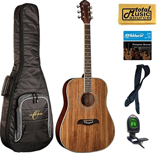 Oscar Schmidt OG2 Dreadnought Acoustic Guitar - Koa Gigbag Bundle ()