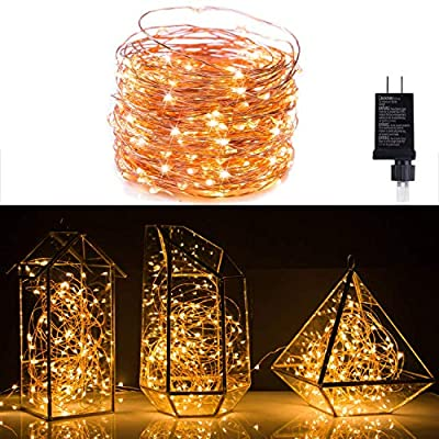 Extra Long 52foot 300led Starry String Lights on a Flexible Copper Wire, 51foot Starry Lights for Indoor, Outdoor, Decorative , Patio, Wedding, Garden, Room ¡­